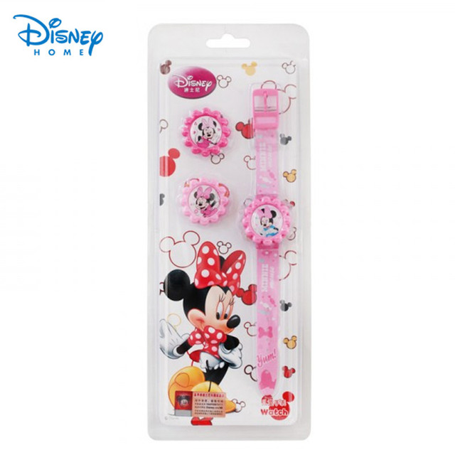 100% Подлинная Disney Микки Марка Часы для детей мальчиков милый Мультфильм Часы 89001-23