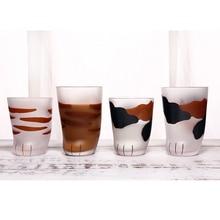 Новинка Кошачий коготь в форме чашки из матового стекла кружка для молока С Рисунком Тигра кофейная чашка подарок TE889