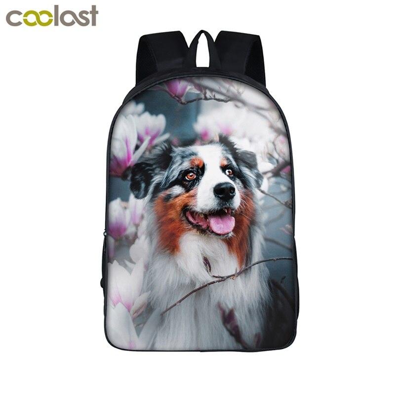 8542a80f2f92 US $16.93 41% OFF|Cute Corgi Dog Backpack For Teenage Boys&Girls Funny  Puppy Children School Bags Women Men Laptop Bag Backpack Kids Book Bag-in  ...