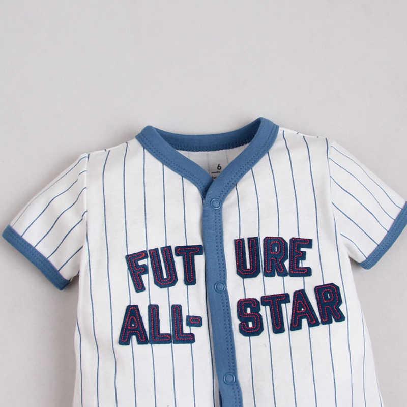 ¡Novedad de 2020! Ropa de verano para bebés, pelele, traje para bebé, ropa para bebés, monos deportivos de béisbol de manga corta, monos