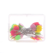 50Pc/pack Straight Pins Multi-color Bird Tulip Flower Corsage Accessories Dressmaking -Y102