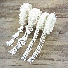 1 ярд волокна цветок кружева отделка жемчужная вышивка тканевая лента для шитья DIY одежды аксессуары для упаковки подарков, 1Yc2452