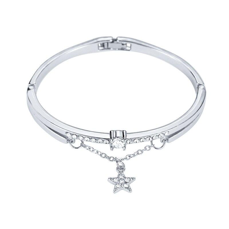 Роскошные браслеты из нержавеющей стали из розового золота, женские браслеты с сердцем, подвеска любовь, браслет для женщин, пара, женская бижутерия в подарок - Окраска металла: 4482