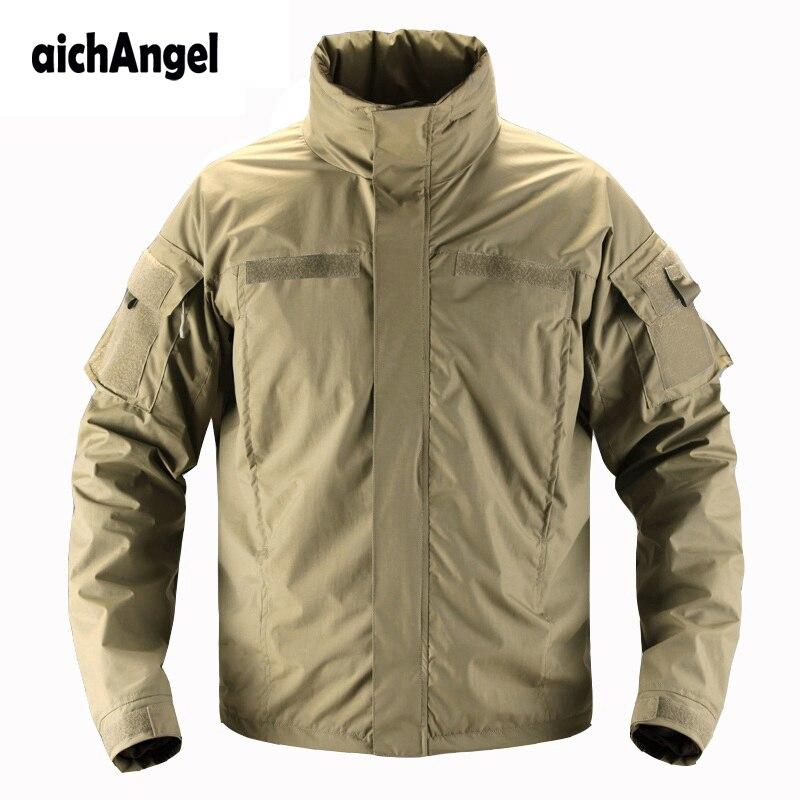 Men Soft Shell Combat Army Military Combat Coat City Tactical Waterproof Military Jacket Casual Spring Windbreaker Jackets