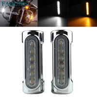FADUIES Chrome Motorcycle Highway Bar Switchback Turn Signal Light For Victory Harley Road King Street Glide Softail Fat Boy