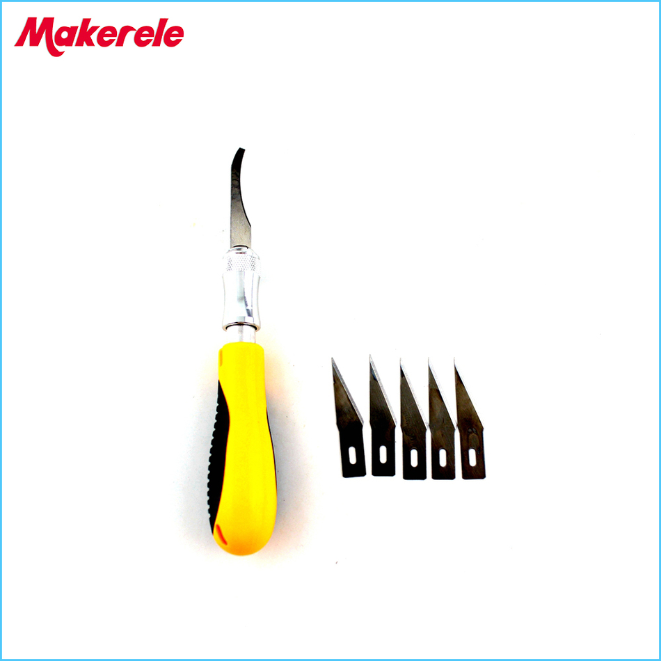 5pcs Blades Set Wood Carving Knife Diy Engraving Chisel Circuit Board Cutter Images Of Woodworking Hand Tools Graver Cutting Pcb Repair New