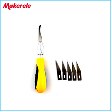 5Pcs Blades/Set wood Carving Knife DIY Engraving Chisel Woodworking Hand Tools Graver Cutting PCB Circuit Board Repair New
