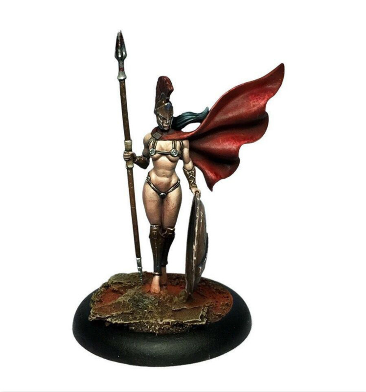 28mm Scale Resin Figure Model Kit Female Spartan Warrior Modeling Assembling DIY Toys Hobby Tools