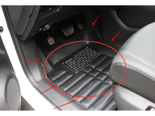 Accessories Black PU leather front rear floor mats paded Pad cover for Nissan Rogue x-trail 2014 2015