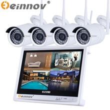 "2pcs/4pcs 720P/1080P WIFI Waterproof IP camera 4ch 12"" inch display NVR IR Night Vison Home Security CCTV Kits 1TB HDD optional"