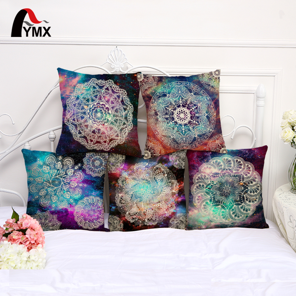 Mandala Printing Cotton and Linen Sofa Pillow Case Car Cushions Cover Living Room Bedroom Pillowcase For Sofa