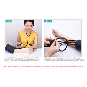 Image 2 - Professional Manual Sphygmomanometer Cuff Blood Pressure Monitor Stethoscope Doctor Household Measure Device With Bag