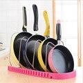 Регулируемая металлическая подставка для кастрюли  органайзер  многослойная подставка для кастрюли  подставка для кухонных принадлежност...
