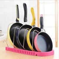 Регулируемый Металлический горшок стойка для кастрюль Органайзер многослойная Крышка для кастрюли подставка для посуды кухонный аксессуа...