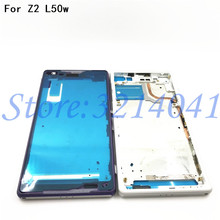 Bezel Replacement Front Middle Frame For Sony Xperia Z2 L50w D6503 D6502 housing LCD Plate Chassis