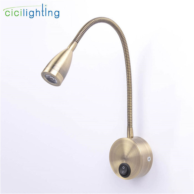 Water Hose Pipes Arm Led Lamp Lights Bronze Bedside Reading Wall Lamps 3w Plumbing Background Mirror Lighting Sconce