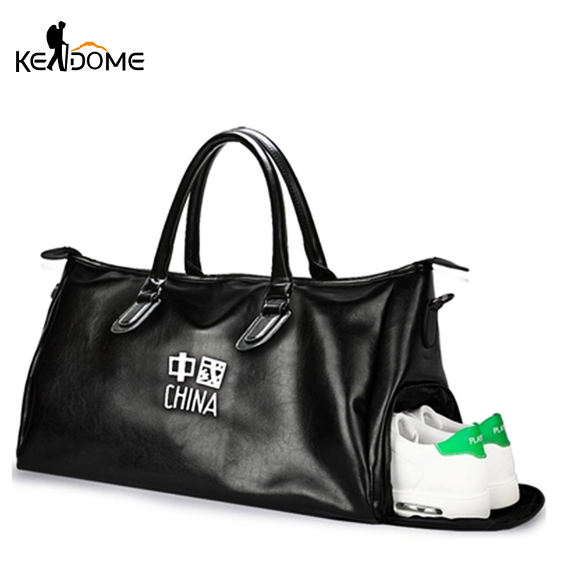 d1d2c911b6a1 Pu Leather Gym Male Waterproof Top Female Sport Shoe Bag for Women ...