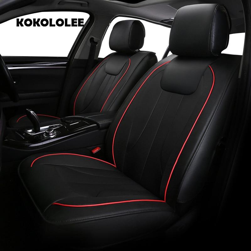 KOKOLOLEE pu leather car seat cover for Volkswagen All Models vw passat b5 6 polo golf tiguan jetta touran touareg auto styling