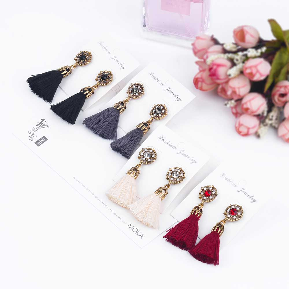 ALIUTOM 2017 Fashion Vintage font b Earrings b font For Women Jewelry Bright Brick font b