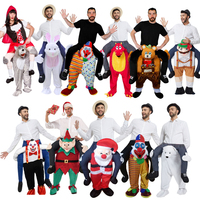 New Style Adult Size Mascot Costume Ride On Me Mascot Fancy Dress Carry Costume For Halloween