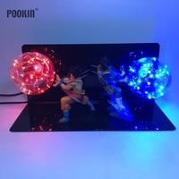 Double Dragon Ball Son Goku Strength Bombs Luminaria Led Color Night Light Holiday Gift Room Decorative