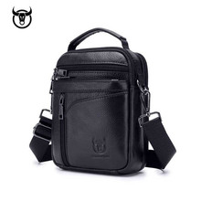 купить Genuine Leather men's Shoulder bag Vintage cow leather man Messenger Bags Casual zipper handbag for male Small Crossbody bag по цене 1490.19 рублей