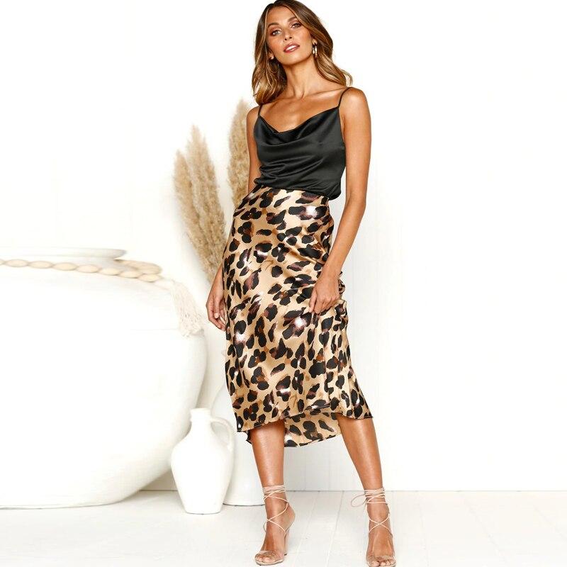 355489661 Nueva moda 2019 verano otoño harajuku maxi faldas de leopardo coreana alta  cintura Sexy Falda larga ...