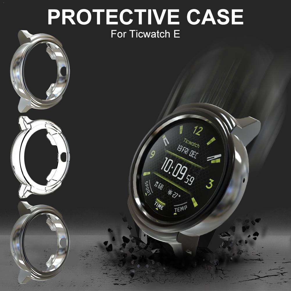 Soft TPU Plated Protector Rugged Cover All-Around Protector Cover Bumper Waterproof Dustproof Scratch-Proof For Ticwatch E