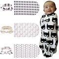 2 pçs/set Fotoshoot Instagram Flor Gaze Bebê Recém-nascido Receber Cobertores Saco de Dormir Do Bebê Recém-nascido Adereços Tricot