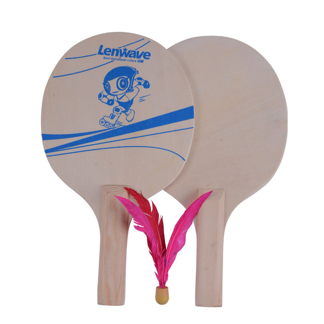 New Design Wood Material Beach Racket /Cricket Bat And Ball