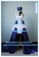 VOCALOID Hatsune Miku Find The Light Cosplay Costume Party Dress Headdress Dress Gloves Shoes Wig Custom