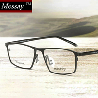 MESSAY Brand Glasses 8184 Titanium Eyeglasses Frames Men Optical Frame Mens Eyewear Frames Suit Prescriptiosn Eyewear
