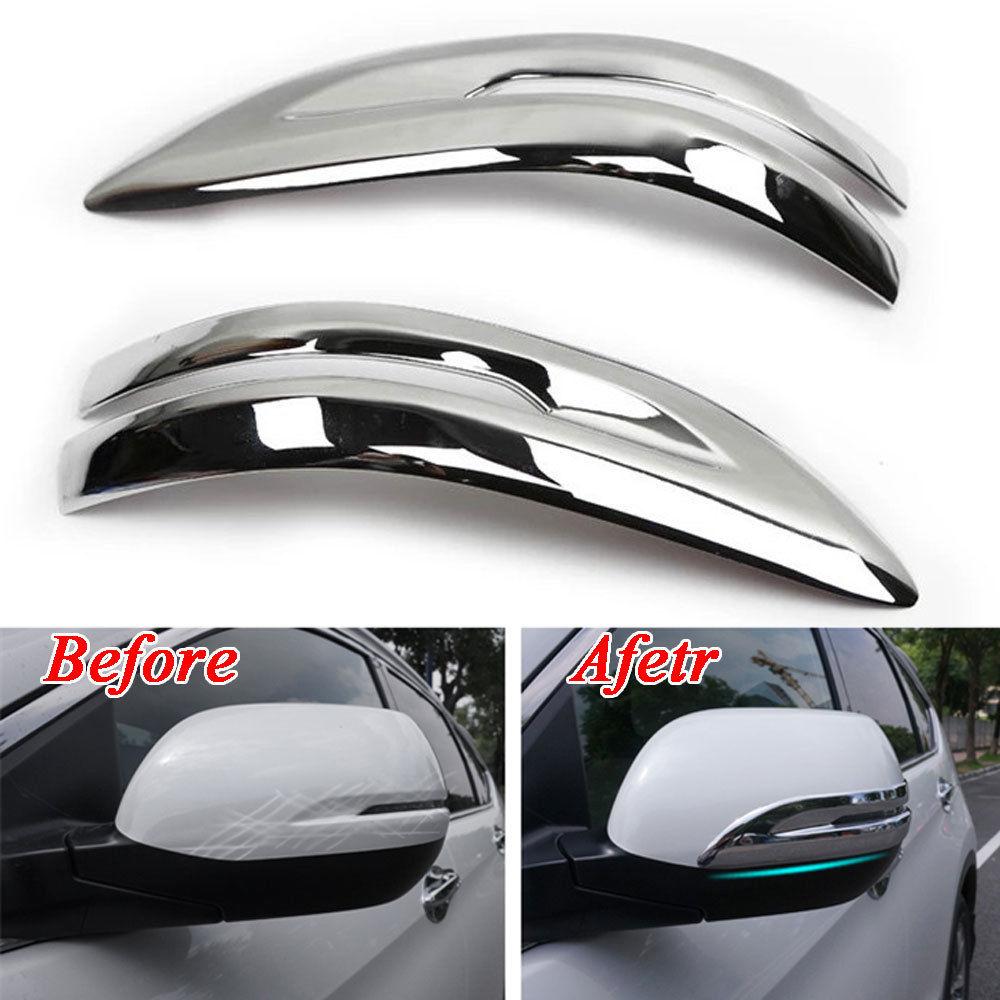 Car Accessories Chrome Anti-rub Rearview Mirror Cover Trim Decal Strip Molding For Honda CRV CR-V 2017 Car Styling Car Decorate