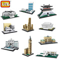 LOZ World Famous Classic Architecture Assembe mini Building Blocks Educational model toys Birthday Gift for Child eiffel tower