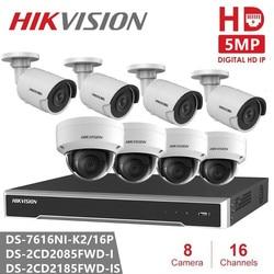 Hikvision 16CH CCTV zestaw do nadzorowania 8MP system kamer bezpieczeństwa 8CH POE nvr Max 4K wyjście 8 sztuk 8MP POE kamera IP CCTV wodoodporna