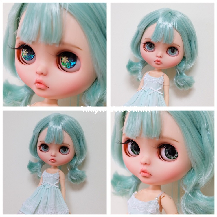 Nbl196Free Shipping Nude Blythe Doll With Short Mint -1871