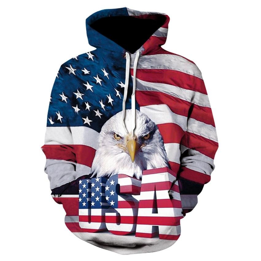 US American Flag USA Red Vintage Star Men Women Hoodie