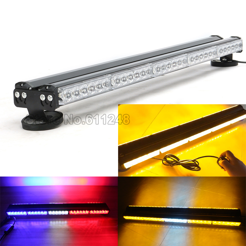 цена на Both sides 12V 30 LED Work Light Bar Car Roof Emergency Strobe Flashing Light Rescue Auto Vehicle Amber Police Warning Lights