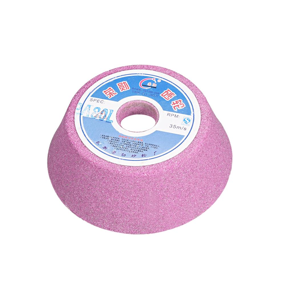 uxcell 1PCS 4inch Grinding Wheel for surface grinding ceramic tools 60 Grits 80 Grits Aluminum Oxide White Pink