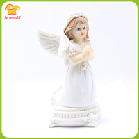 2019 new style prayers Little angels Candle mold Platinum silicone mold