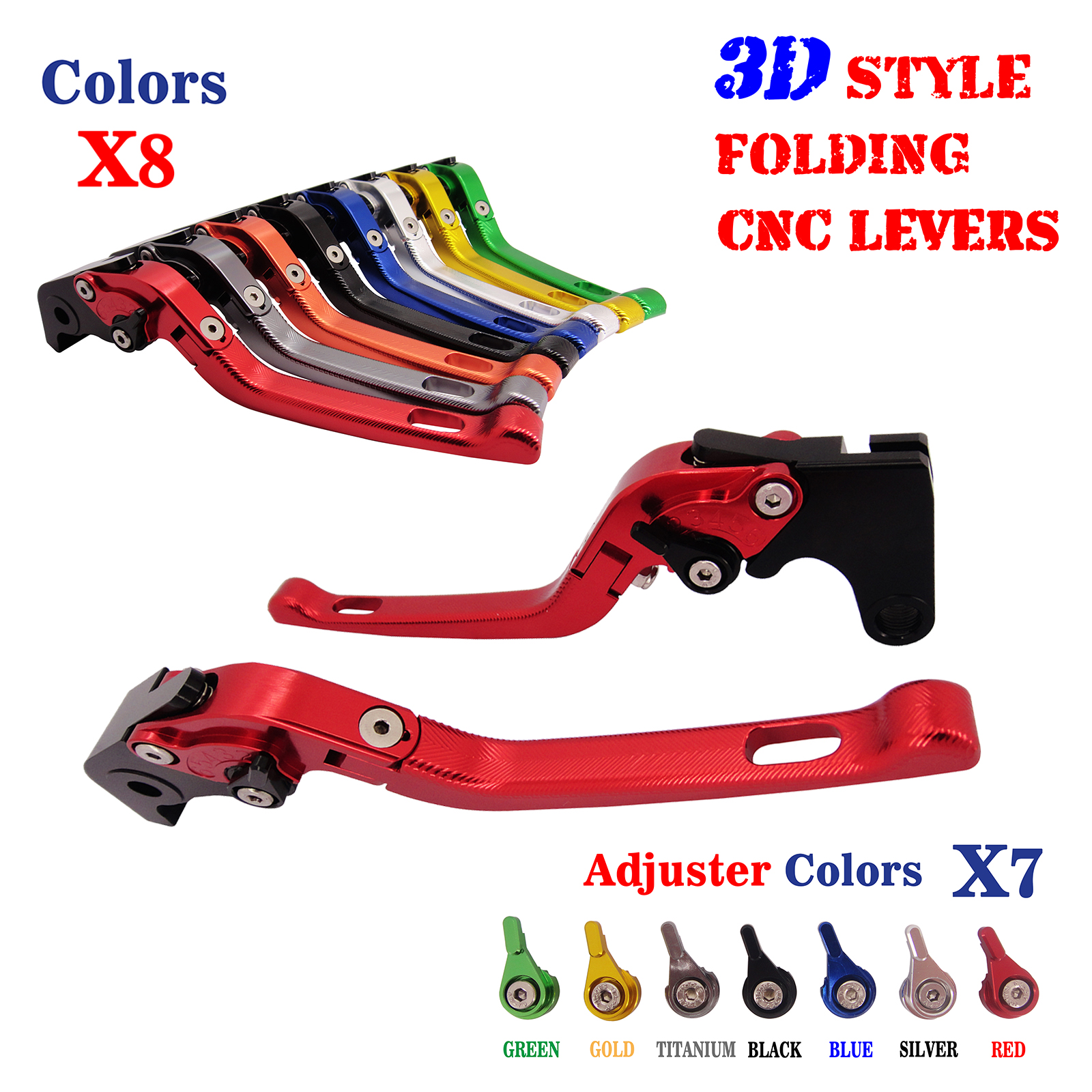 CNC 3D Feel Folding Brake Clutch Lever For Yamaha TDM850 1991-2001 XJ900S Diversion 1995-2002 FZX250 Zeal 1991 1992 new
