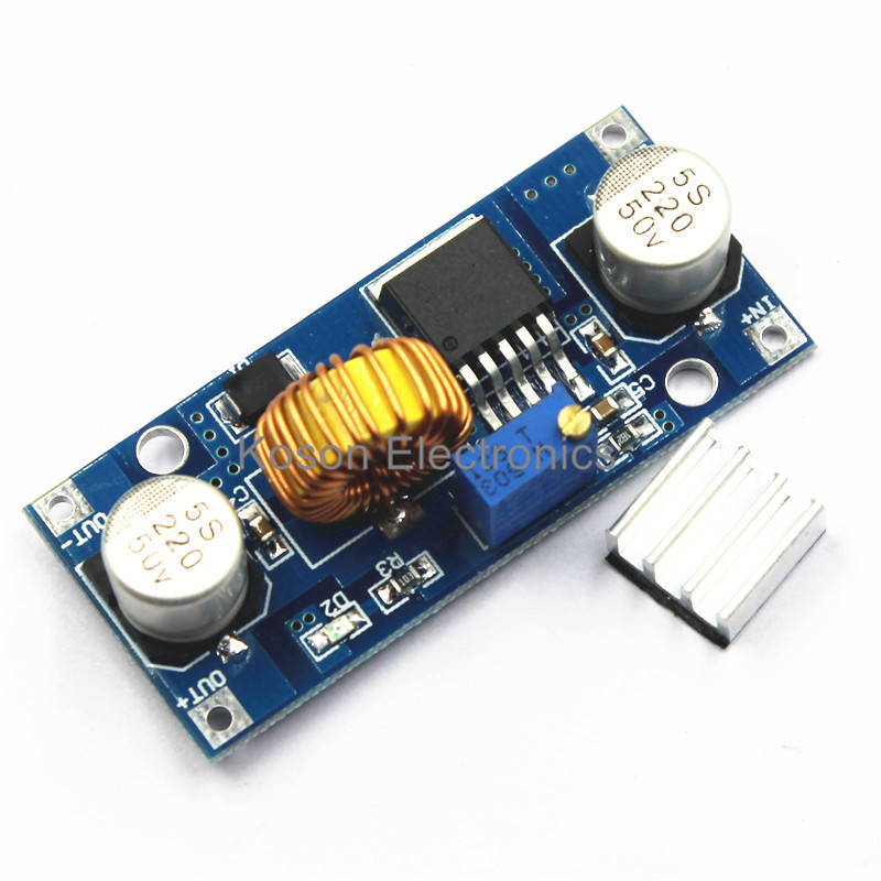1 PCS * XL4015 DC-DC Step Down Adjustable Power Supply Module LED Lithium Charger 5A Max 4-38V to 1.25-36V 24V 12V 9V 6V 5V 3V