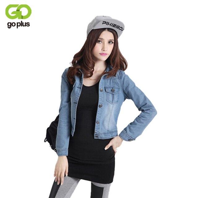9cbf2a94940 2016 Autumn Winter Plus Size Vintage Cropped Ripped Denim Jackets Short Jeans  Jacket Women Harajuku Long Sleeves Cardigan Coats