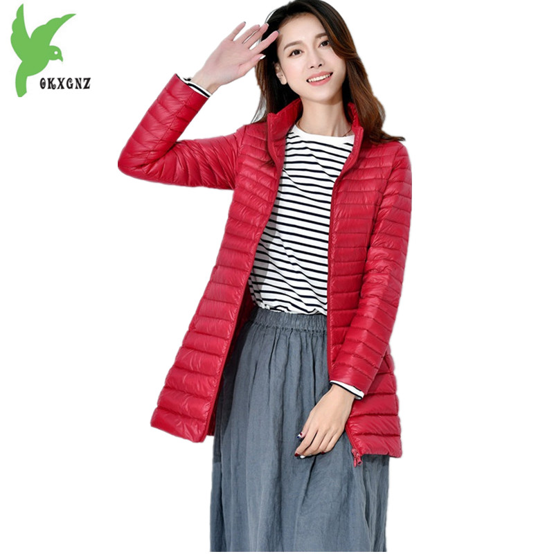 New Winter Women's Feather Cotton Jacket Fashion Solid Color Light Thin Keep Warm Casual Costume Plus Size Slim Coat OKXGNZ A851 new women s autumn winter down cotton coats fashion solid color casual keep warm jackets thin light slim parkas plus size okxgnz