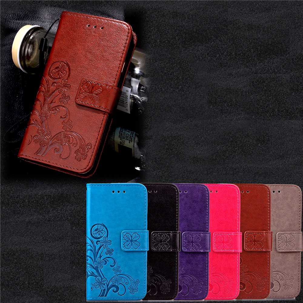font b Funda b font Clover Book Style Wallet Case For Samsung Galaxy S5 S6