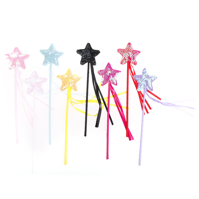 1PCS Five Pointed Star Fairy Wand Magic Stick Girl Party Princess Favors Party DIY Decorations