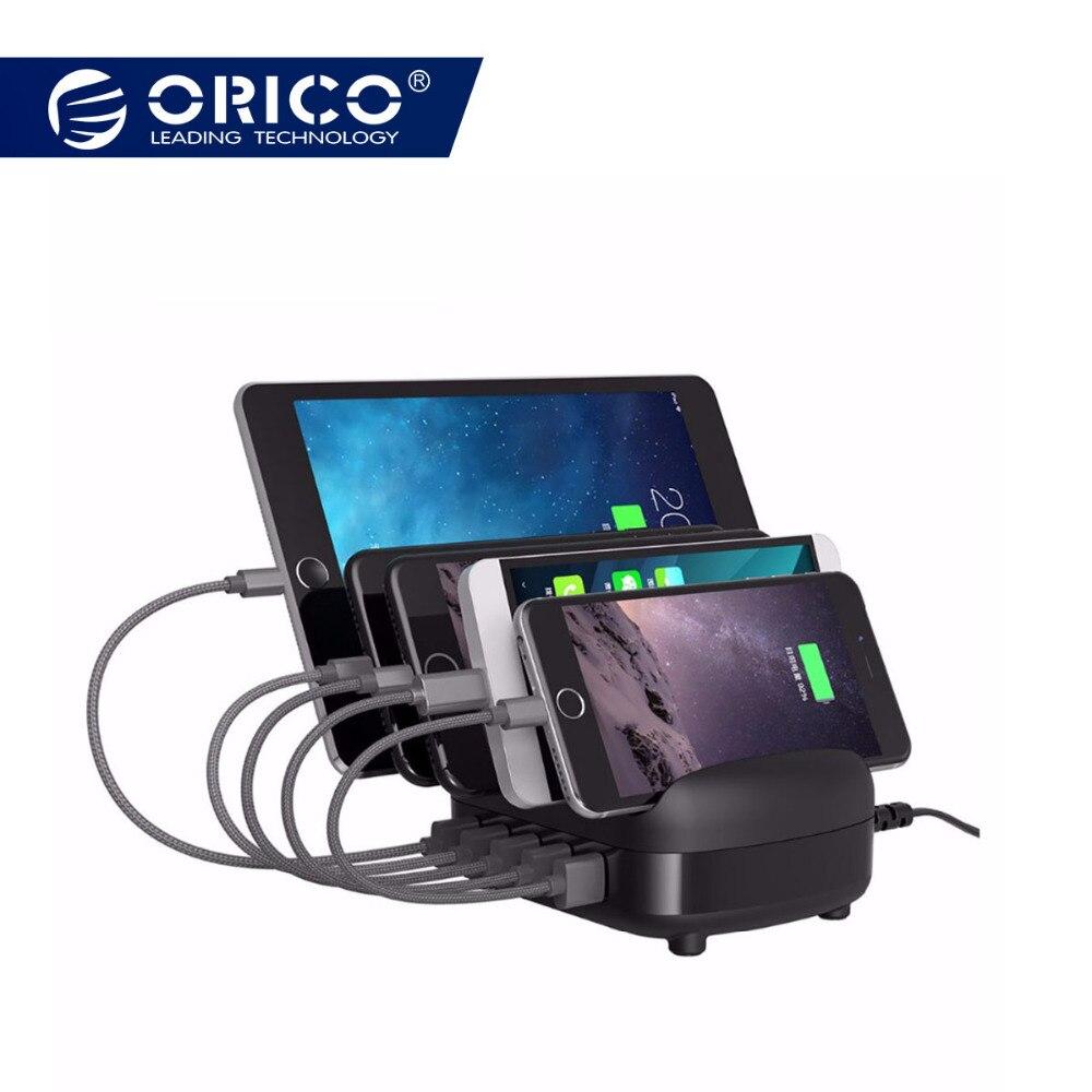 ORICO 5 Ports USB Ladegerät Station Dock mit Halter 40 W 5V2. 4A * 5 USB Lade für Smartphone Tablet PC Gelten für Home Öffentlichen