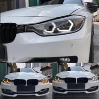 for BMW 4 series F32 435i 428i 420d 420i 440i 430i White & Amber M4 Iconic Style LED Angel eyes kit halo ring Turn signal light