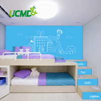 Flexible whiteboard Sticker Dry Erase Drawing Writing Board Kitchen Wall stickers Hold Magnets Home Wall Room Decor Blue Color