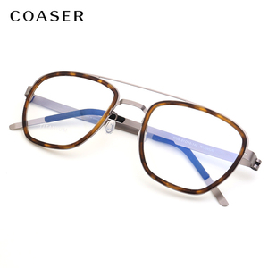 Image 2 - NEW Men eyeglasses Titanium Glasses Frame Denmark Brand Design Vintage Round prescription optical  Myopia eyewear metal